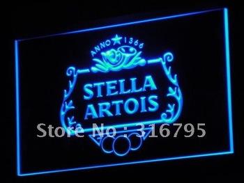a075-b NEW Stella Artios Anno 1366 Bar Neon Light Sign