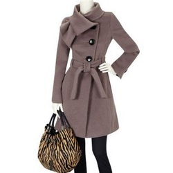 [702] Free shipping Winter new Women wool coat Fashion woolen coats outwear jackets Wholesale UK SIZE 8-16(China (Mainland))