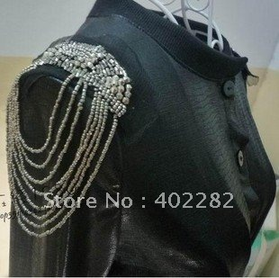 New Arrival & Free Shipping! Wholesale high fashion PUNK new design tassel brooch / epaulet / epaulette / shoulder loop,