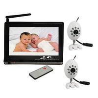 baby monitor 2.4G receiver+ 2 cameras,7 inch LCD Monitor,2.4G Wireless Receiver,CCTV Camera baby monitor,4 channels support