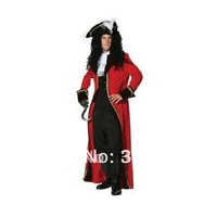 Free Shipping+The Ultimate Captain Hook Cosplay Costume