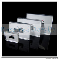 2'' x 3'' acrylic magnet frame clear acrylic frame  display stand 5pcs/lot