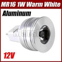 MR16 1W 12V WHITE LED SPOTLIGHT LAMP BULB LIGHT NEW@1913