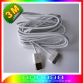 Long 3M USB Cable for iPhone iPod iPad High Quality 100% good USB Data Sync Charger Cable  2pcs/lot  free shipping