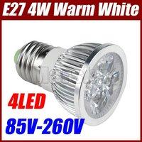 4W Warm White E27 High Power LED Spot Lamp 220V@1909