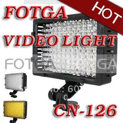 Großhandel cn-126 126 led-videoleuchte kamera dv-camcorder beleuchtung für canon nikon, kamera licht, versandkostenfrei