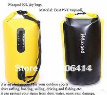 kayak,rafting, boating, sailing, driving,and fishing dry bags,waterproof bags,60L(China (Mainland))