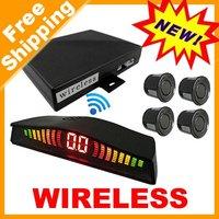 Car Mini LED Wireless Parking Sensor 4 Sensors 10 Colors Choice Free Shiping #878