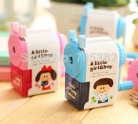Boy & Girl mechanical pencil sharpener, Pencil sharpener,Gift items, Free shipping(SS-298)