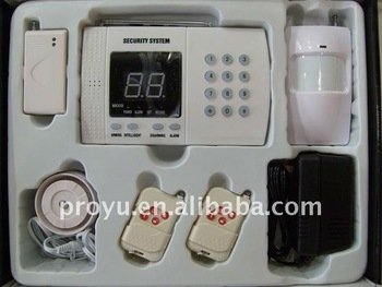 Economic  PSTN Alarm System with 99 wireless  connect to telephone line PY-A2