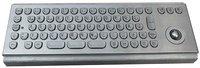 IP65 vandal proof industrial stainless steel keyboard with trackball(X-BP711B)