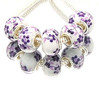 T28  10pcs/lot Mixed New Charms Lampwork Glaze Beads Glass Bead Fit European Brcaelet And Diy Bead 925 Silver Ceramics beads