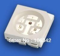 Free shipping High brightness 5050 RGB  SMD LED