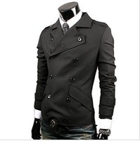 Free shipping,double-breasted High-quality Casual suit jacket Men's Slim Fit Coats /JK-025