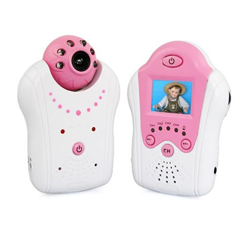 1.5 Inch Red 2.4ghz Wireless Baby Monitor Night Vision(China (Mainland))