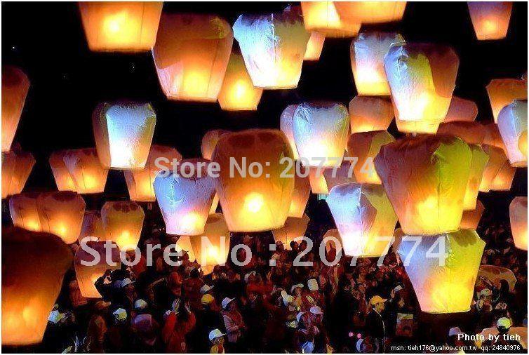 Sky Lanterns Wishing Lantern Fire Balloon Chinese Kongming Lantern For Birthday Wedding Party Gift(China (Mainland))