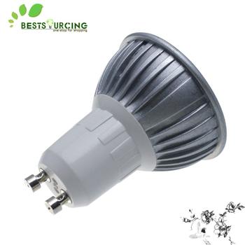 Free shiping 4PCS/lot 110-240V GU10 3W LED Warm light Spot Light High Power