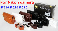 New arrival Leather digital Camera pouches Case For Nikon digital camera P340 P330 P320 P310 , free shipping