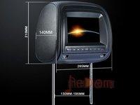 "7"" Headrest DVD Player Pillow CAR MONITORS GAMES USB SD Card MP3 MP4"