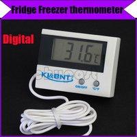 Free shipping/Digital Slim temperature Sensor LCD Fridge Freezer thermometer #3051