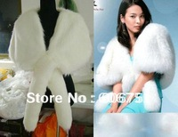 Ivory faux fur wedding bridal shawl scarf wrap for dress outerwear bride cape accessories wholesales free shipping