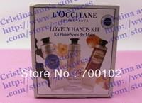 12SET/LOT! L'Occitane Hand Cream Set (Shea+Rose+cherryblossom) Hand cream 2x3,30ml  Free shipping Christmas gifts