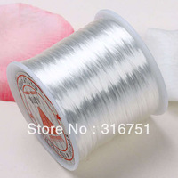 Free Shipping 5 Rollsx10M White Stretch Elastic Beading Cord/String/Thread 0.8mm/diy (w00426)