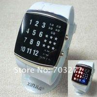 freeshipping!Brand New!Super Star Binary LED Digital GEL Sport Wrist Watch !