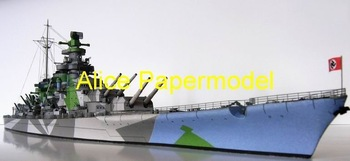 [Alice papermodel] Long 1 meter WWII sms superbattleship Grosdeutschland destroyers models