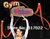 1lot=10pcs rhythmic gymnastic/gymnastics ribbon  with free shipping