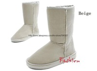 Free shipping  Suede Fur Lady's Snow Boots  Winter Boots  Brown/Black/Pink/Beige/Gray/Chestnut-SH-001