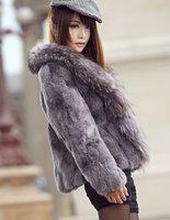 (Free shipping)New natural fur coat for ladies,seductive fur jackets collar design women's warm clothes