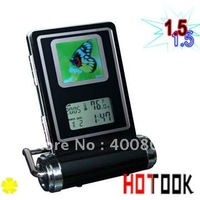 Dropship 1.5 LCD Digital Photo Display with Timepiece and Thermometer Christmas Gift -- free shipping