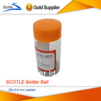 2 bottles/lot SCOTLE 25k 0.6 mm 0.6mm BGA Solder Ball Leaded
