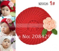 Free shipping Handmade kid&#39;s cap, Cotton Crochet Hat Cap Beanie Baby Mixed style hot Toddler Children&#39;s cap 10pcs/lot