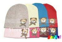 30pcs/lot new style fashion baby hat baby bear hat HOT DOT design headress, free shipping