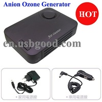 Car air purifier with active carbon, nano photocatalyst, UV LED and anion ozone generator