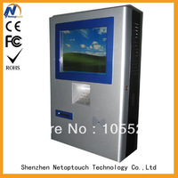 Shopping mall center touch self payment kiosk
