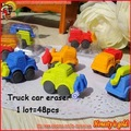Free shipping!48pcs/lot,8 style New cute cartoon eraser,funny truck car design eraser,excellent quality,HOT HOT