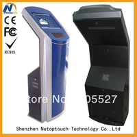 Touch payment kiosk with normal keyboard and computer