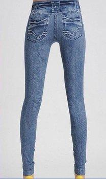 East Knitting FREE SHIPPING B4 Women SkinnyJeans Leggings tatoos  womans printed Pants black/blue drop shipping