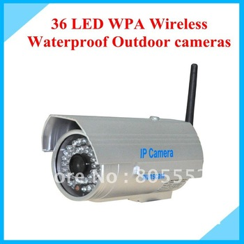 36 LED WPA Wireless Waterproof Outdoor Security CCTV IP Camera