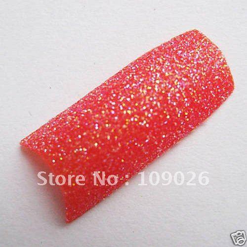 Grátis 70pcs frete Red Nail Art GLITTER produto Red NAIL TIP, Nail art FRANCÊS(China (Mainland))