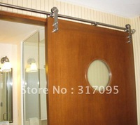 Free shipping+WD15 Full set sliding barn door hardware(satin)