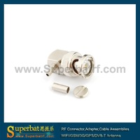 BNC Crimp Plug Right Angle connector for LMR100