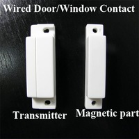 10pcs/Lot Wired Door Window Contact Magnetic Sensor for PSTN and GSM Home Alarm System AT-DC01W