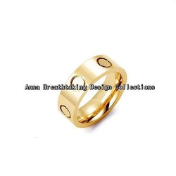 French Most Celebrated LOVE RING,In 18K Yellow Gold Plated Metal.Symbol Of Love,Charming Ring For Lovers,A Joy Gift To Received(China (Mainland))