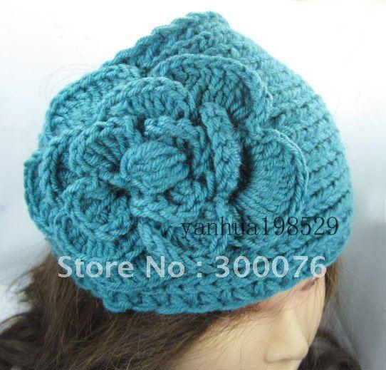 King size Handmade Headbands Crochet Flower headwrap