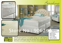 Guaranteed 100% Barcelona 1500 Pocket Spring mattress bed free custom logo 3sets free shipping