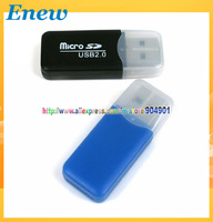 Free shipping by HK POST SDHC SD TF MICRO SD USB 2.0 Card Reader